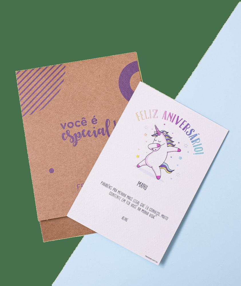 Como fazer um cartão de parabéns na Festalab?