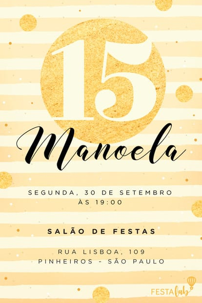 Convite de Aniversario - Celebracao