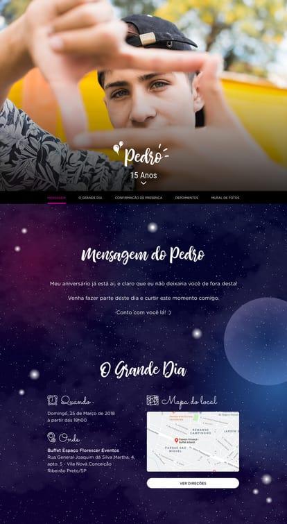 Website de aniversario - Galaxia