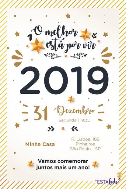 Convite de datas especiais - Ano Novo 2019