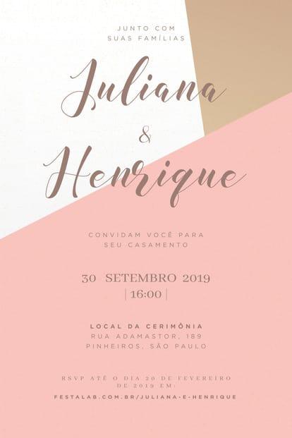 Convite de Casamento - Minimalista