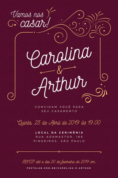 Convite de Casamento - Ornamental