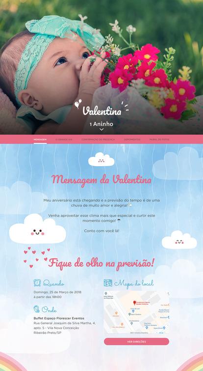 Convite Chuva de Amor para Editar