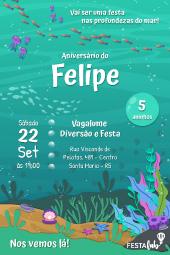 Convite Fundo Do Mar