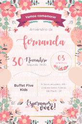 7693f40008 Convite de aniversario - Jardim Encantado