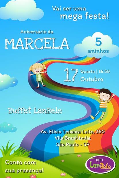 Convite de aniversario - LanBele