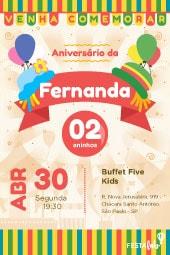 Convite De Aniversário Infantil Modelos Incríveis Festalab