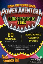 Convite Power Rangers