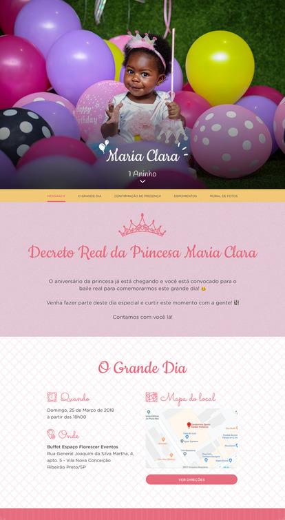 Convite Princesa para Editar