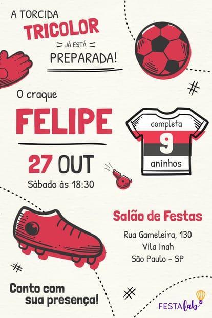 Convite de Aniversario - Sao Paulo