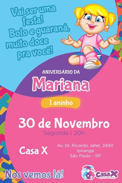 Convite de aniversario - Xuxinha