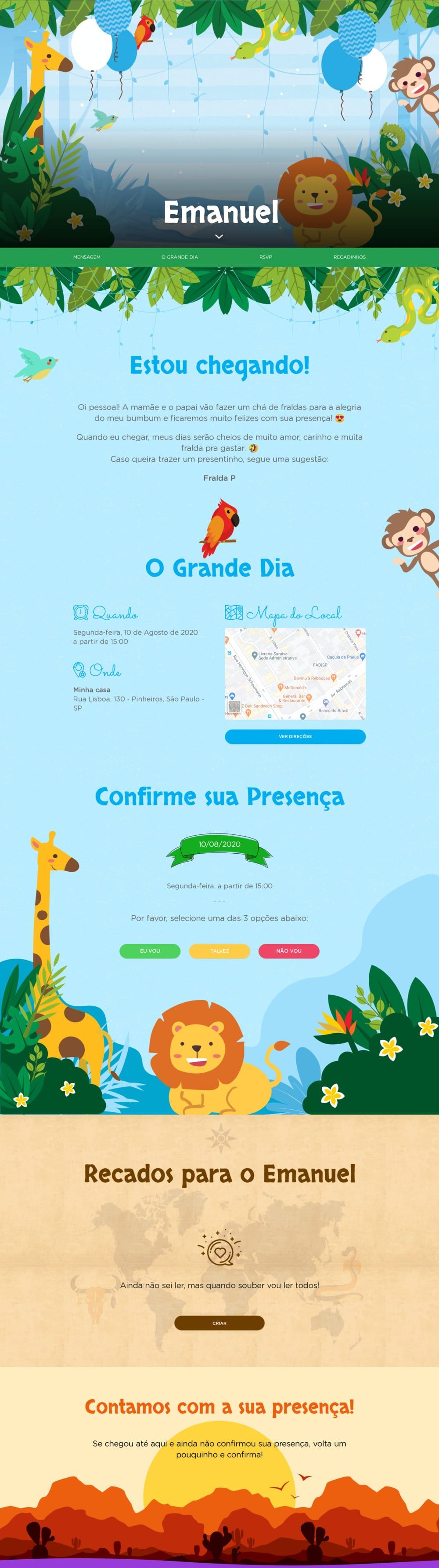 Vibe de Cha de bebe - Safari