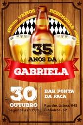 Convite de aniversario - Boteco Cerveja