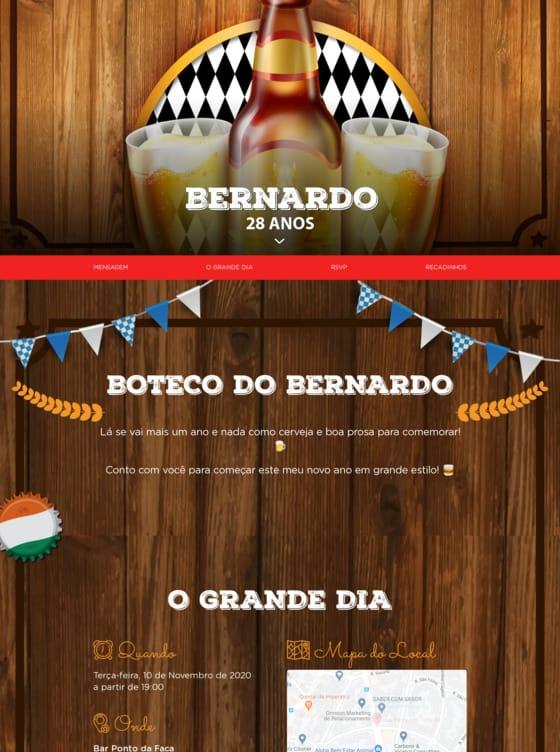Convite Boteco para Editar