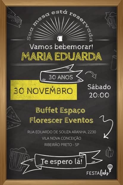 Convite Boteco