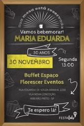Convite Boteco Festalab