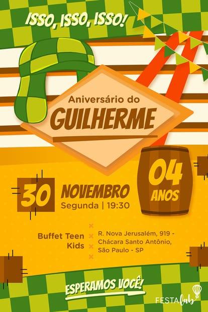 Convite de Aniversario - Chaves