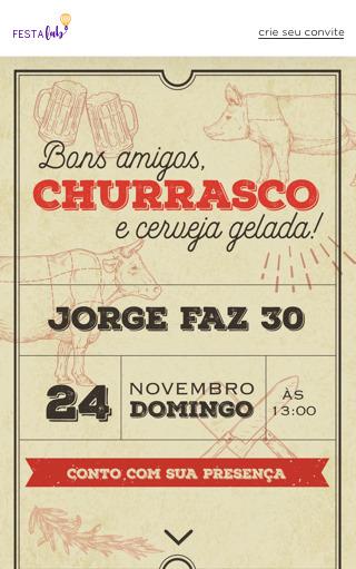 Convite Churrasco para Editar