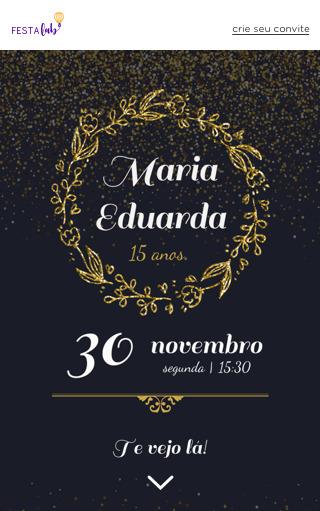 Convite de Aniversario de 15 anos para Editar