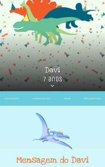 Convite Dinossauros para Editar