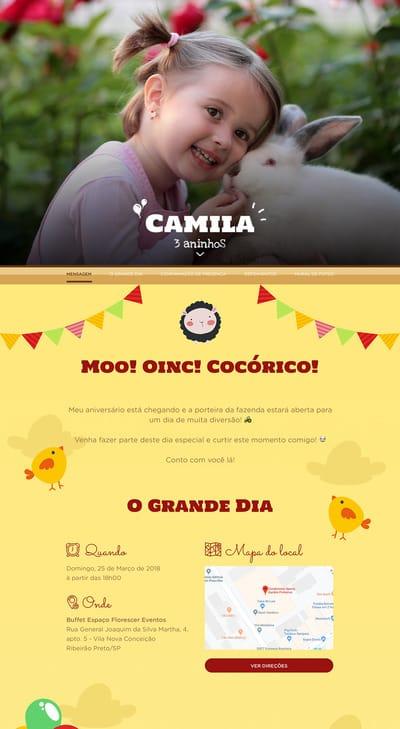 Convite Fazendinha Festalab