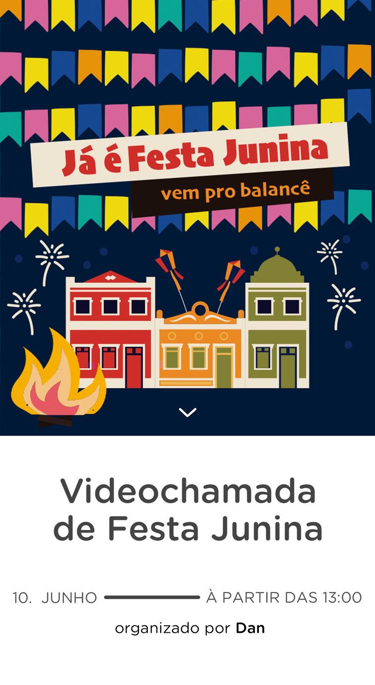 Website de aniversario - Festa Junina