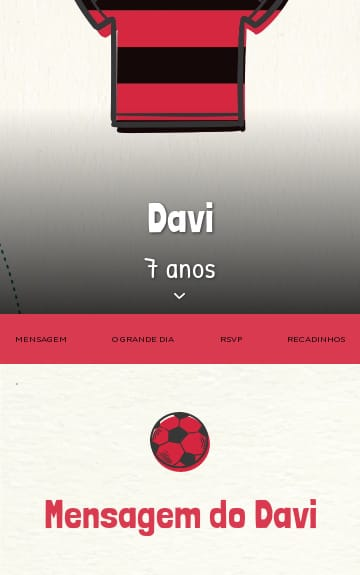 Convite Flamengo para Editar