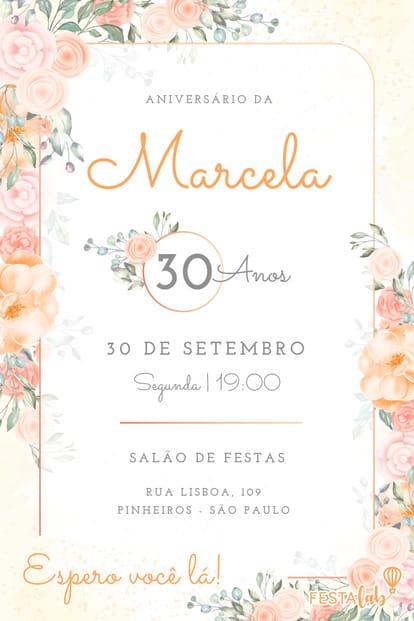 Convite de Aniversario - Titulo do Convite