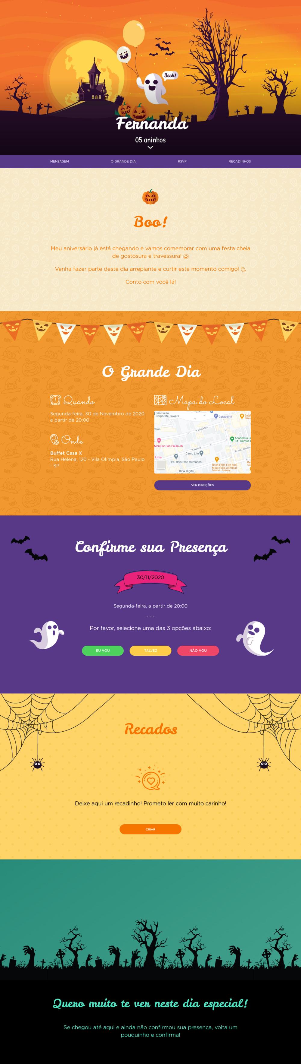 Vibe de Aniversario - Halloween