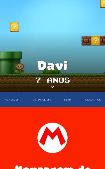 Convite Mario Bros. para Editar