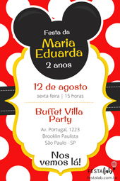 Convite Mickey Festalab