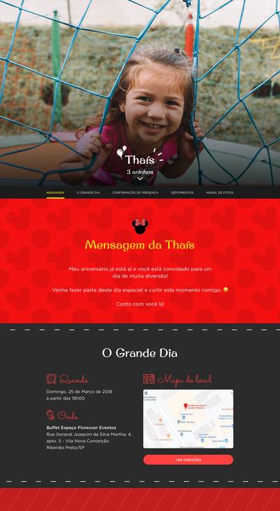 Convite Minnie Vermelha para Editar