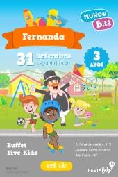 Convite Mundo Bita Festalab