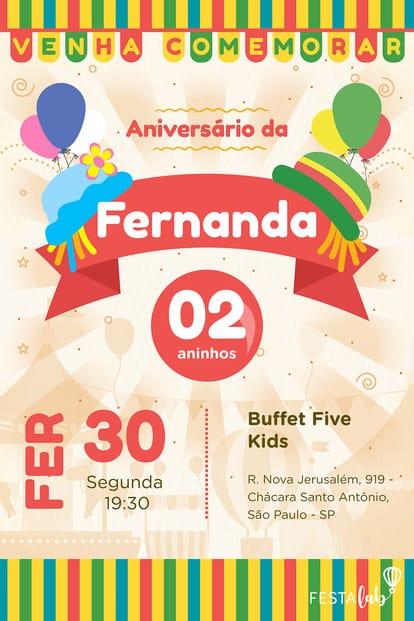 Convite de Aniversario - Patati Patata
