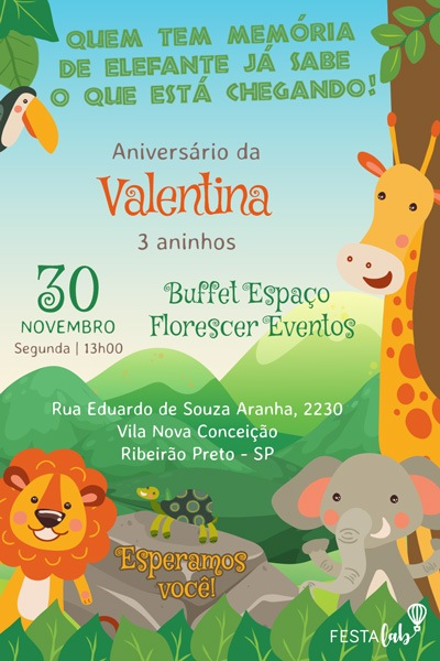Convite Safari Festalab