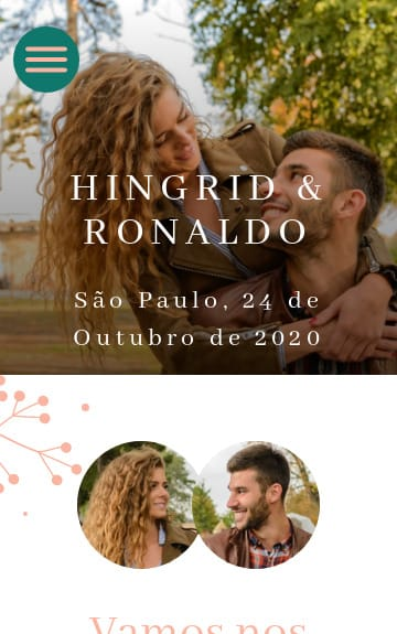 Website de casamento - Elegante