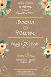 Convite de Casamento - Rustico