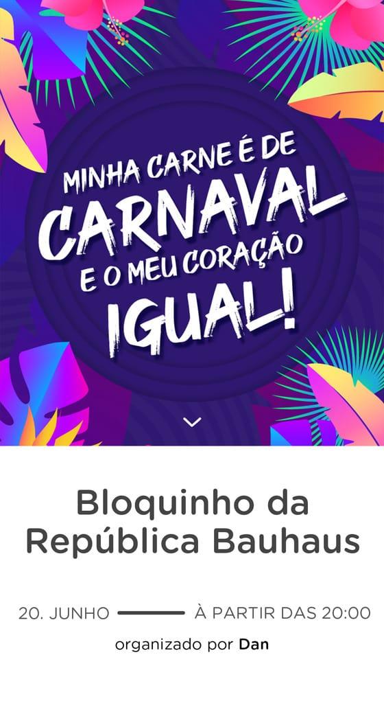 Convite Gratis para Editar - Carnaval Neon