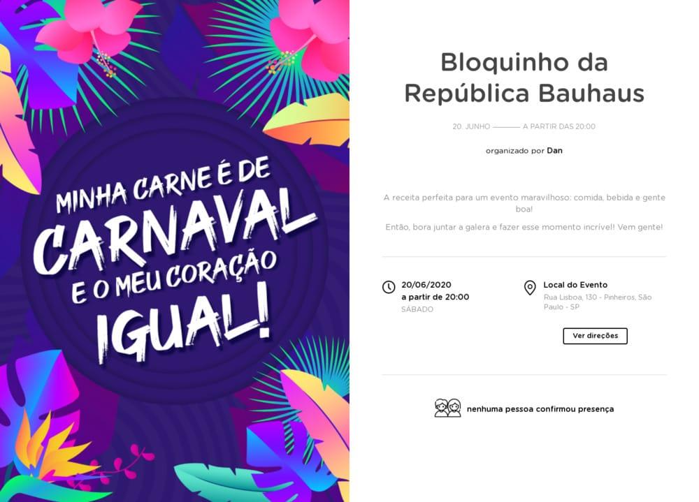 Vibe de Ocasioes especiais - Carnaval Neon
