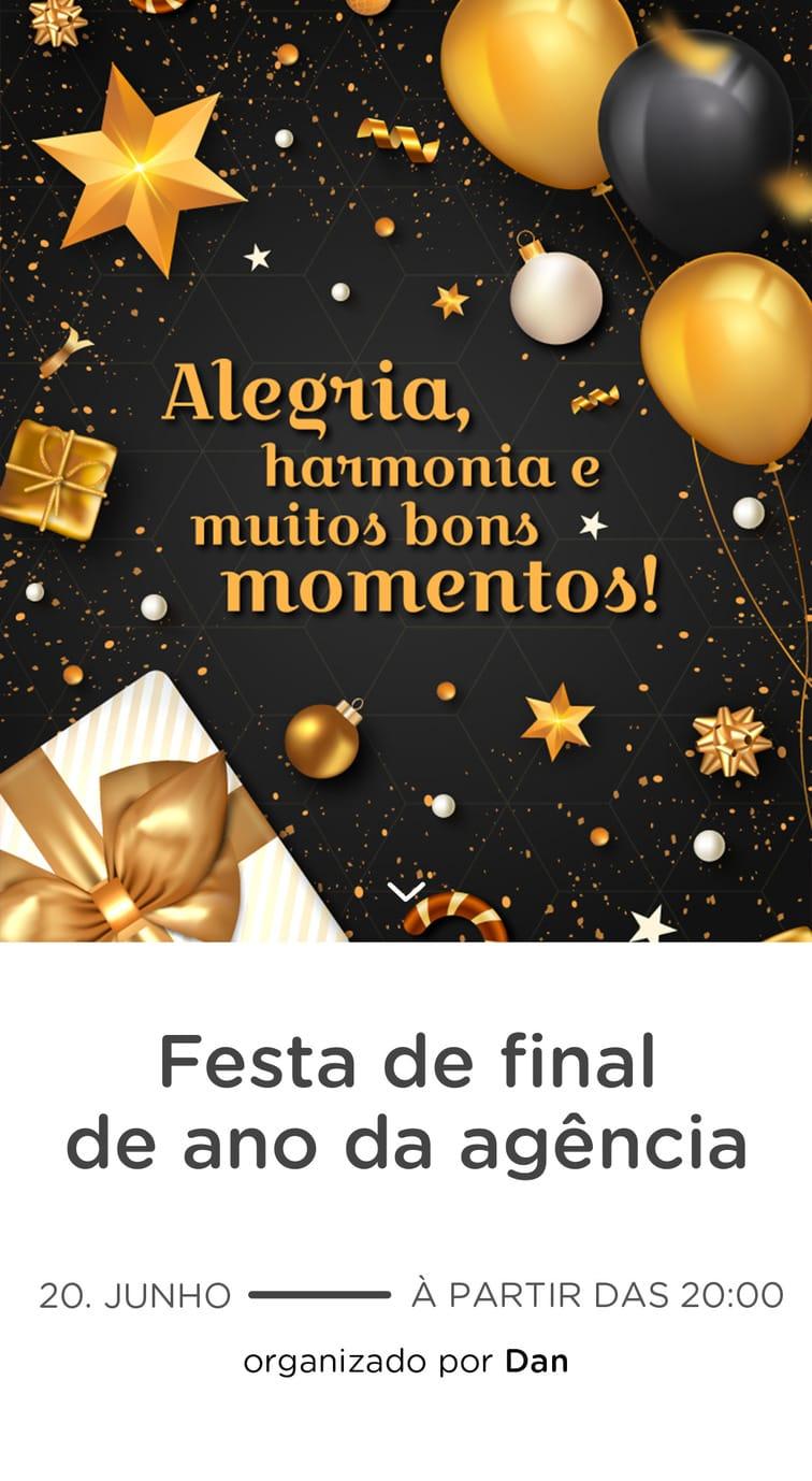 Convite Gratis para Editar - Confraternizacao