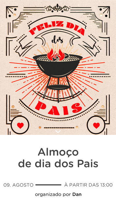 Website comemorativo - Dia dos Pais Churrasco