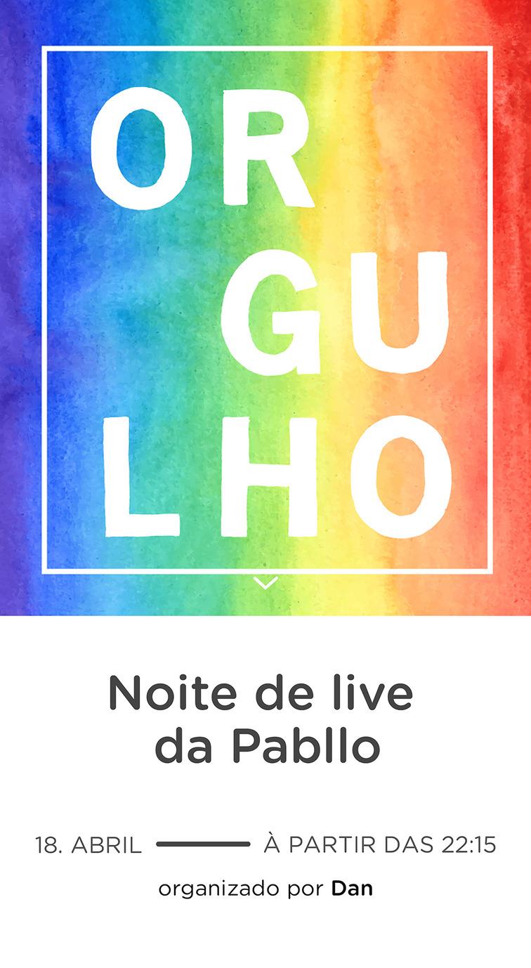 Website comemorativo - Orgulho
