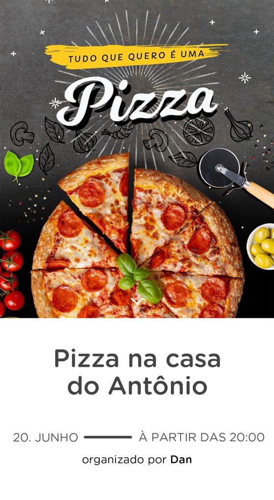 Modelo de convite - Pizza