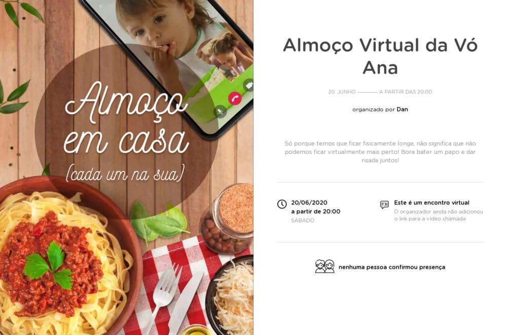 Vibe de Encontro Virtual - Almoco Virtual