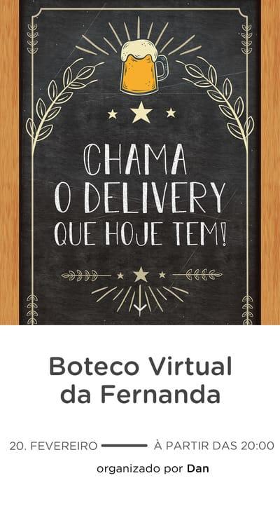Modelo de convite - Boteco Virtual