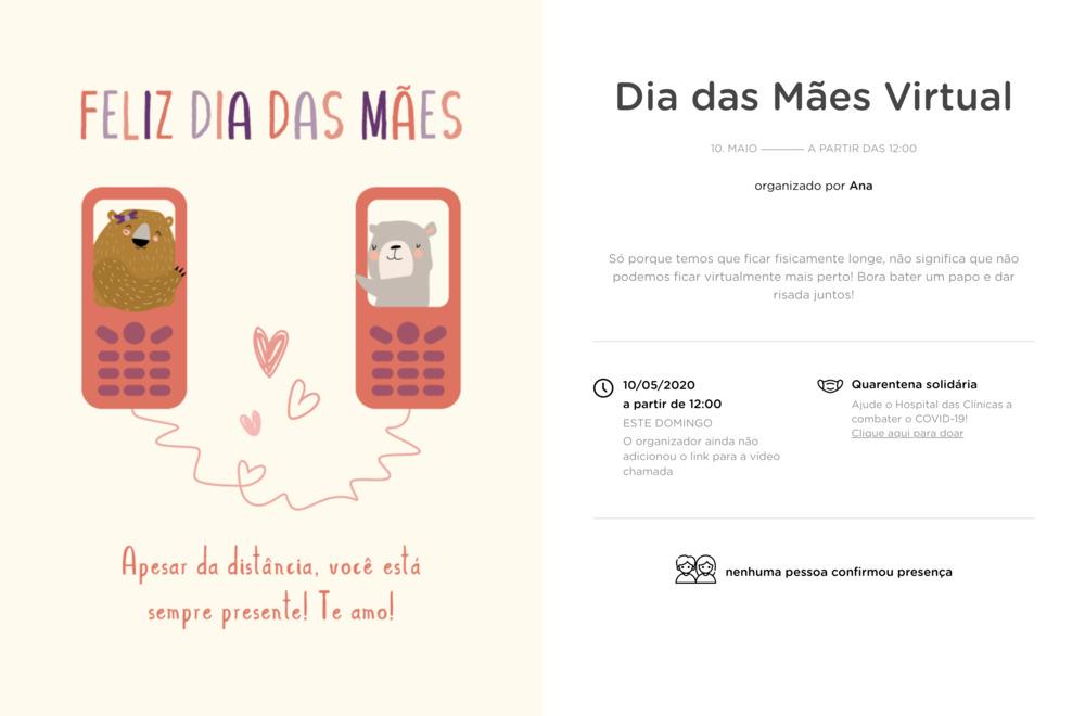 Vibe de Encontro Virtual - Dia das Maes Virtual