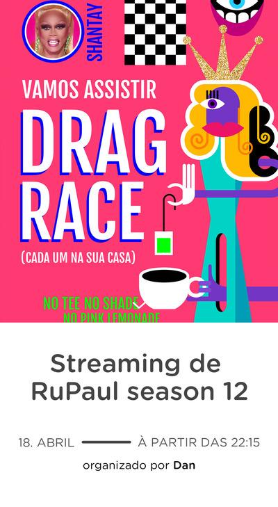 Modelo de convite - Drag Race