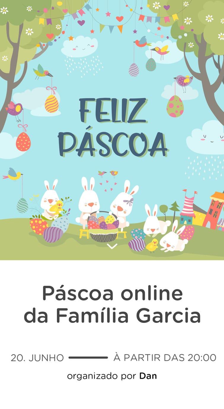 Modelo de convite - Pascoa Virtual